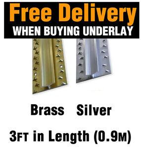 Dual-Edge-Carpet-Metal-Door-Bar-Trim-Brass-Silver