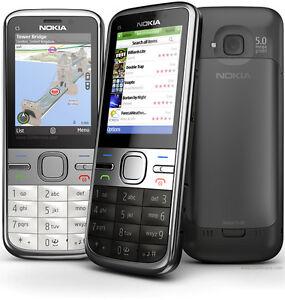 Nokia C5-00 5MP - (Unlocked) Mobile Cell Phone - Gray/White