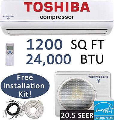 21 SEER 24,000 BTU Ductless AC Mini Split Air Conditioner Heat Pump : 25ft Kit