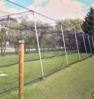 72' batting cage and pitching machine