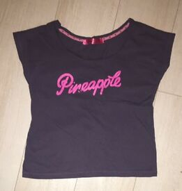 Pineapple dance clothing top -size small- EXCELLENT CONDITION