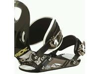 Ride EX snowboard bindings size 10