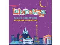 2 x Paris Lollapalooza Tickets
