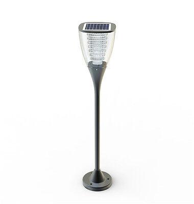 Exterior Lámpara Energía Solar de Jardín Farola Fotovoltaica Luz Proyector LED