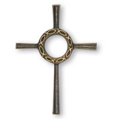 Taufgeschenk Kommunion Konfirmation Kreuz Bronze Geschenk für Jungen & Mädchen