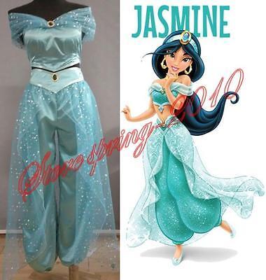 Aladdin Princess Jasmine Cosplay Costume Adult Custom made costume New S-XXL