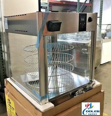 New Nsf Commercial Rotating Pizza Pie Display Case Warmer Qty 4 18 Shelf Snacks