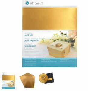 Silhouette Cameo 8.5 x 11 x 8 shee PRINTABLE GOLD ADHESIVE FOIL