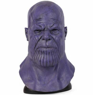 Infinity Halloween (Avengers Mask Cosplay Thanos Infinity Halloween Helmet War Latex Marvel Endgame)