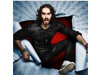2 x Russell Brand Newcastle City Hall FRONT ROW of balcony only £25 each!!