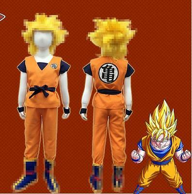 children Anime Dragon Ball Z GoKu Cosplay Costume Set Fancy Party clothing - Goku Costume Kids