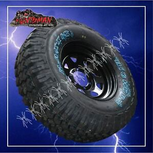 15x8-BLACK-STEEL-WHEEL-FITTED-TO-MAXXIS-BIGHORN-MT762-33-12-5-15-LT-MUD-TYRE