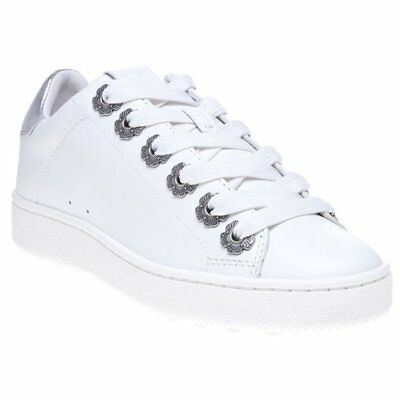 New WOMENS COACH WHITE LIQUID C101 WITH TEA ROSE EYELETS LEATHER Sneakers ()