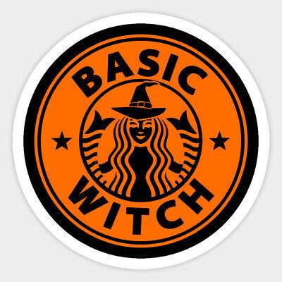 Halloween Basic Witch Coffee Starbucks Vinyl Wall Decal Room Decor Sticker