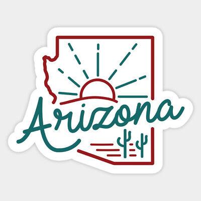 - Arizona Line Art Graphic Sketch Home Vinyl Decal Laptop Car Bumper Wall Sticker