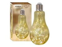 Anika Metallic Retro Lamp 20 Warm White LED.