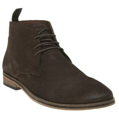 New Mens Superdry Brown Trenton Sleek Chukka Suede Boots Lace Up