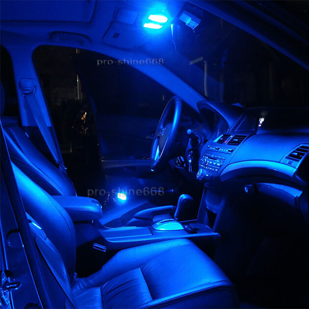 Interior car led bulbs light kit package xenon blue 10k for vauxhall astra mk4 ebay for Led car interior lights ebay