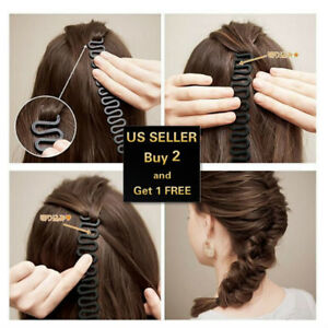 Hair French Braid Clip Magic Styling Stick DIY Bun Maker Tool