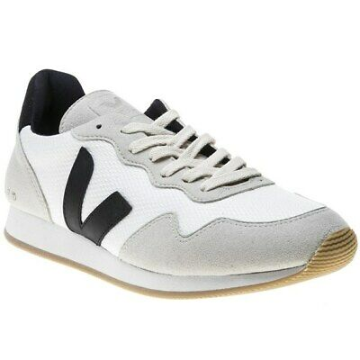 New MENS VEJA WHITE SDU B-MESH SYNTHETIC SUEDE Sneakers PLIMSOLLS