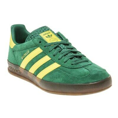 New Mens adidas Green Gazelle Indoor Suede Trainers Retro Lace Up