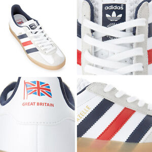 Adidas-TEAM-GB-2012-WHITE-GAZELLE-INDOOR-TRAINERS-BNIB-Great-Britain-Olympics