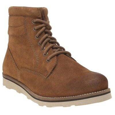 New Mens Superdry Tan Stirling Sleek Suede Shoes Chukka Boots Lace Up
