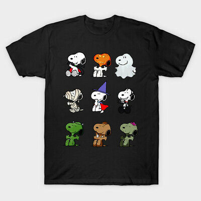 Halloween Ghost T Shirt (Snoopy Peanuts Parody Halloween Costume Funny Mummy Ghost Black T-Shirt)