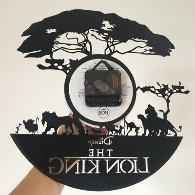 The Lion King Best Wall Clock Made of Vinyl Record Saat Alarm Clocks Large Watch