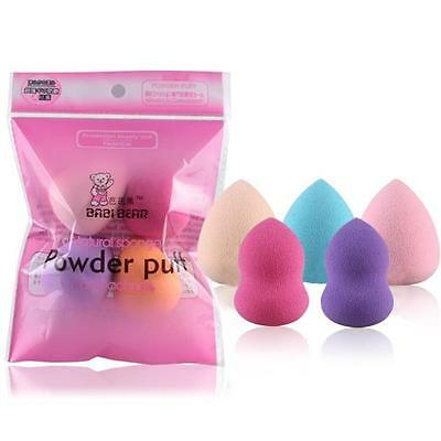 5PCS Multi Shape Beauty Flawless Makeup Blender Foundation Clean Puff Sponges