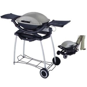 Weber Q 2200 Portable Gas BBQ, Cart and Cover