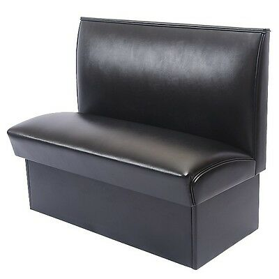 NEW BEAUTIFUL BLACK DELUXE COMMERCIAL RESTAURANT CAFE BOOTH FURNITURE