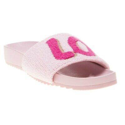 New Womens Ilse Jacobsen Pink Love Synthetic Sandals Flats Slip On