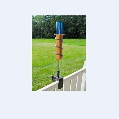 Copper Rain Gauge Pluviometer Float Measure Vertical Fence Mount Metal Handmade