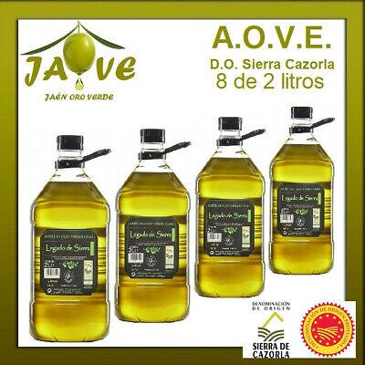 Aceite Oliva Virgen Extra 8 Garrafas de 2 litros D.O. Sierra Cazorla...