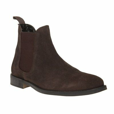 New MENS Sole BROWN FLEET SUEDE BOOTS CHELSEA