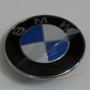 NEW Car Emblem Chrome Badge Logo 74mm 2 Pins 51148219237 For BMW Rear Trunk