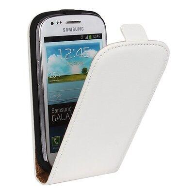 Samsung i8190 i8200 Galaxy S3 mini - Housse Etui à Clapet Slim BLANC - Phonit
