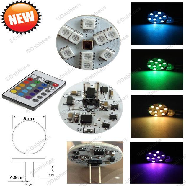 led decke sp lung licht g4 leuchtmittel mit fernbedienung farb ver ndernd g4 ebay. Black Bedroom Furniture Sets. Home Design Ideas