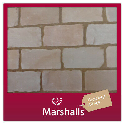 BLOCK PAVING NATURAL STONE BUFF BROWN MULTI TUMBLED 40-60MM 8M2 MIN ORDER 3 PKS