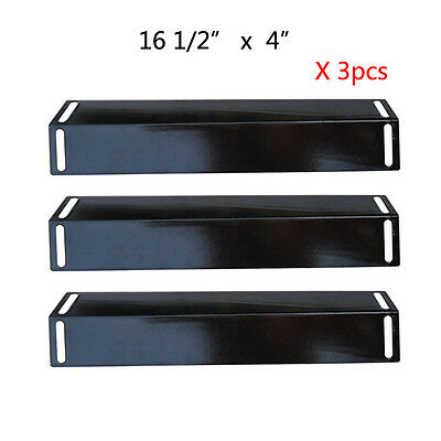 BBQ Grillware Gas Grill Heat Plate Porcelain Steel Heat Shield SPX151-3pack ()