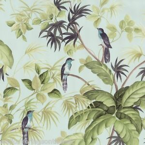 'Birds of Paradise' Wallpaper Suitable for Bathrooms & Kitchens (fully washable)