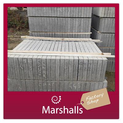 CONCRETE PAVING FLAGS MARSHALLS 900x300x50mm Charcoal SLABS MIN ORDER 5