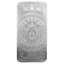 Golden State Mint Aztec Calendar 10 oz Silver Bar BU SKU58841