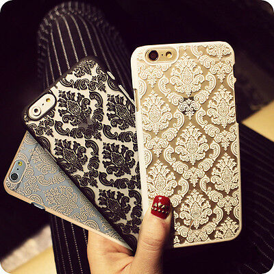 For New Apple iPhone Ultra-thin Damask Protective Hard Back Case Cover