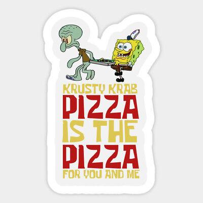 Spongebob Squarepants Krusty Krab Pizza Vinyl Decal Wall Bumper Laptop - Spongebob Stickers