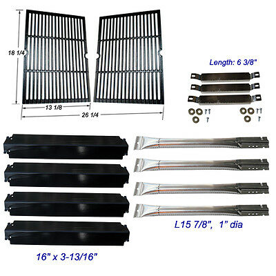 (Charbroil Commercial 463268606  Burner,Carryover Tubes,Heat Plates, Grill Grates)