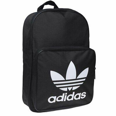 Adidas Originals Classic Backpack Gym Bag Black Sports Mens Womens NEW Trefoil
