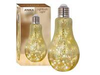 Anika Metallic Retro Lamp 20 Warm White LED... new