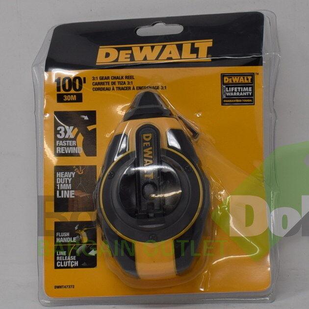 DeWalt Gear Chalk Reel Line Plastic Case DWHT47372 Yellow & Black